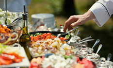 Catering services | We will prepare an outdoor, indoor or boat reception for you. We can prepare a reception in our own facilities or we will rent any suitable facilities according to our client's requests. We have no limits for the number of guests.